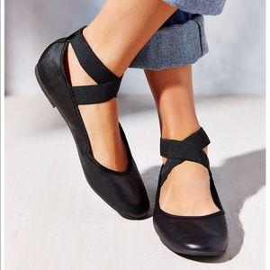 Urban Outfitters Cross-Strap Ballet Flats